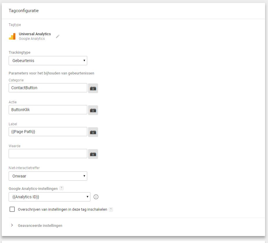 Google Tag Manager variabelen