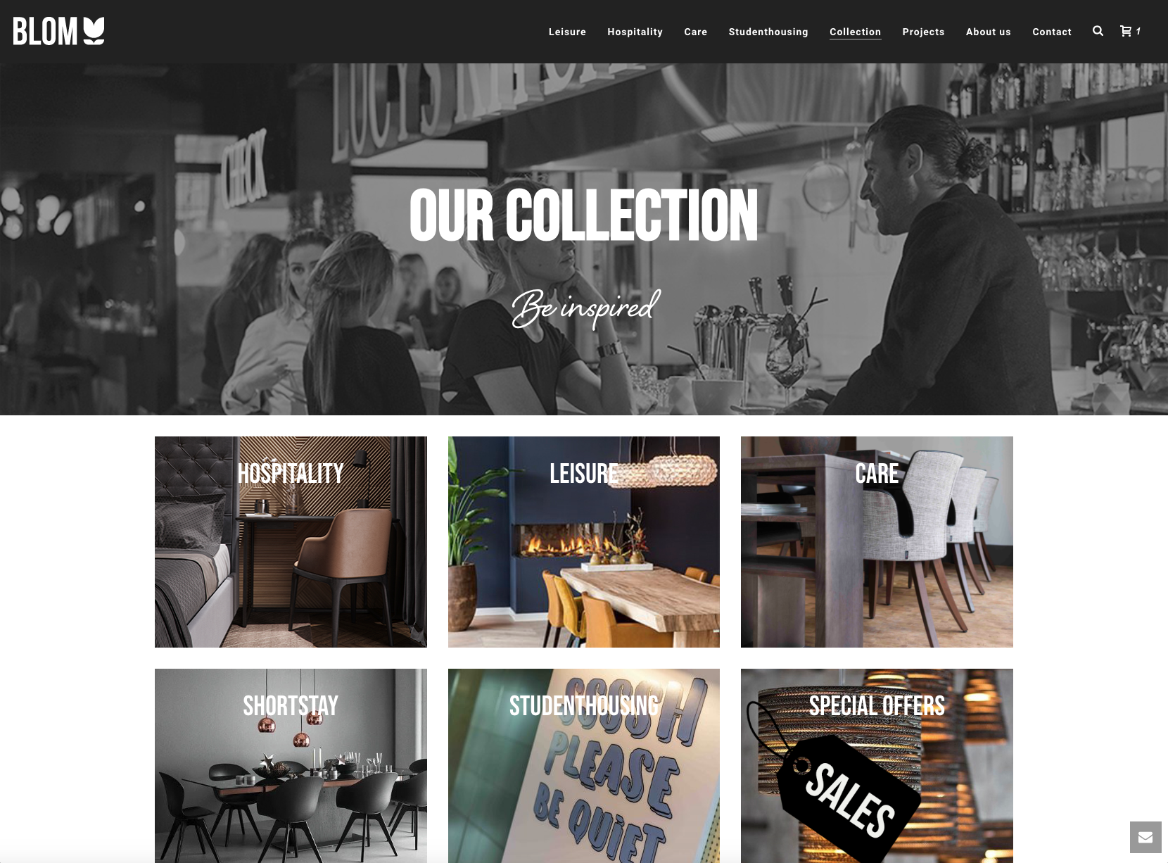 Blom Interieurs – Online collectie - / Crossmedia Communicatiegroep
