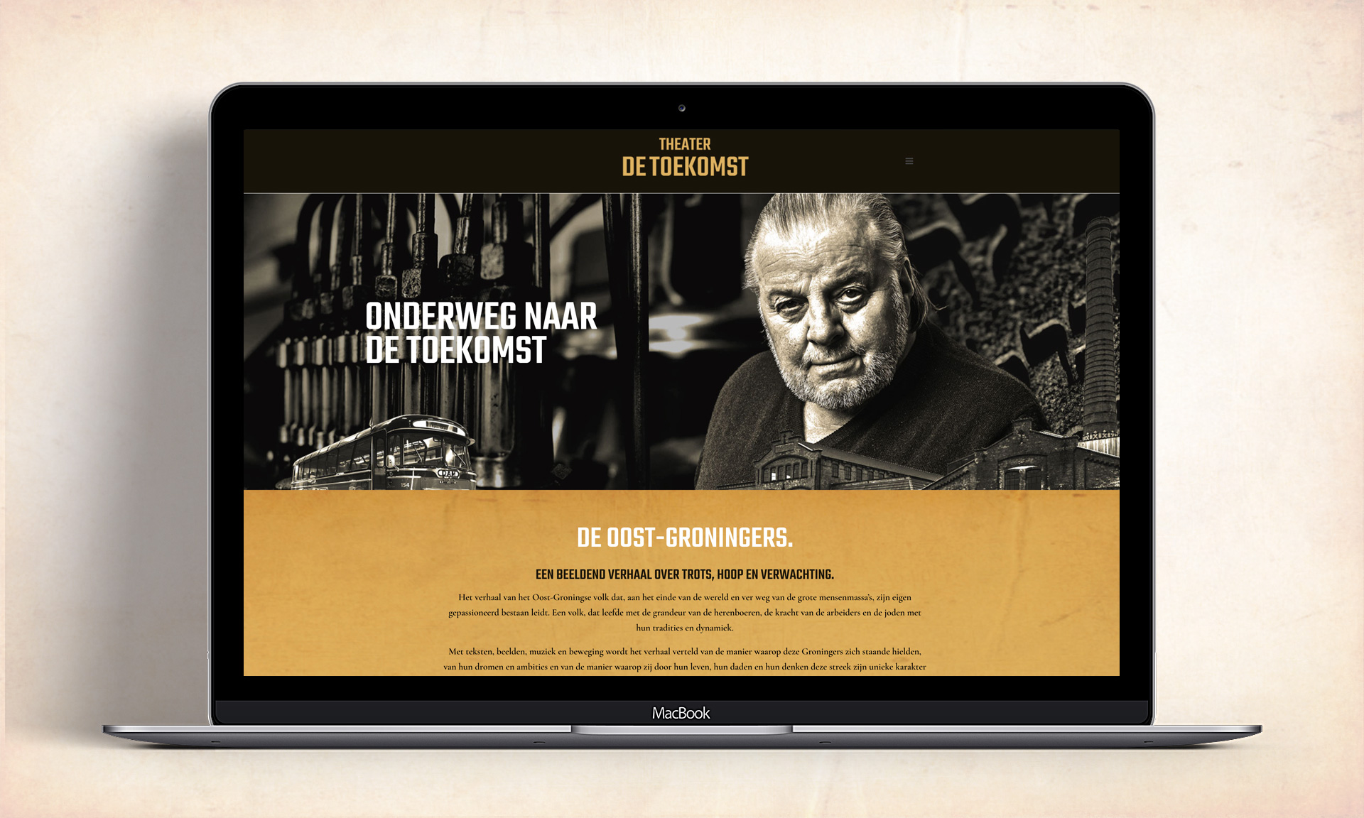 Website Theater de Toekomst